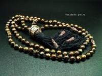 буддийские четки 108 бусин из бронзита