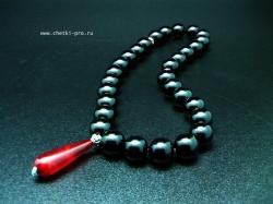 четки из черного агата абажур 2